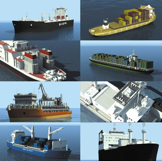 DOSCH 3D: Freight Ships sample-image