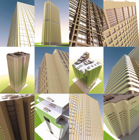 DOSCH 3D: High-Rise Buildings sample-image