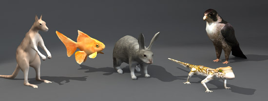 DOSCH 3D: Lo-Poly Animals sample-image