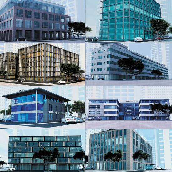 DOSCH 3D: Office Buildings sample-image