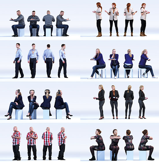 DOSCH 3D: People - Conference Room Vol. 1 sample-image