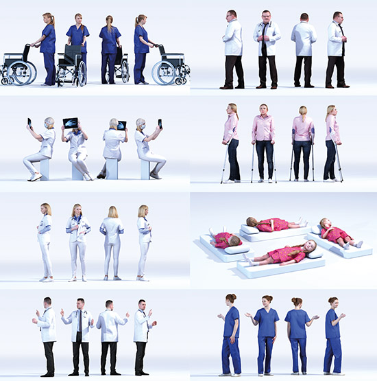 DOSCH 3D: People - Hospital Vol. 1 sample-image
