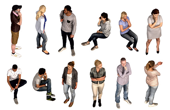 DOSCH 2D Viz-Images: Isometric - People - Casual sample-image